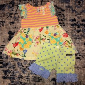 Matilda Jane Size 2 Shorts & Top.